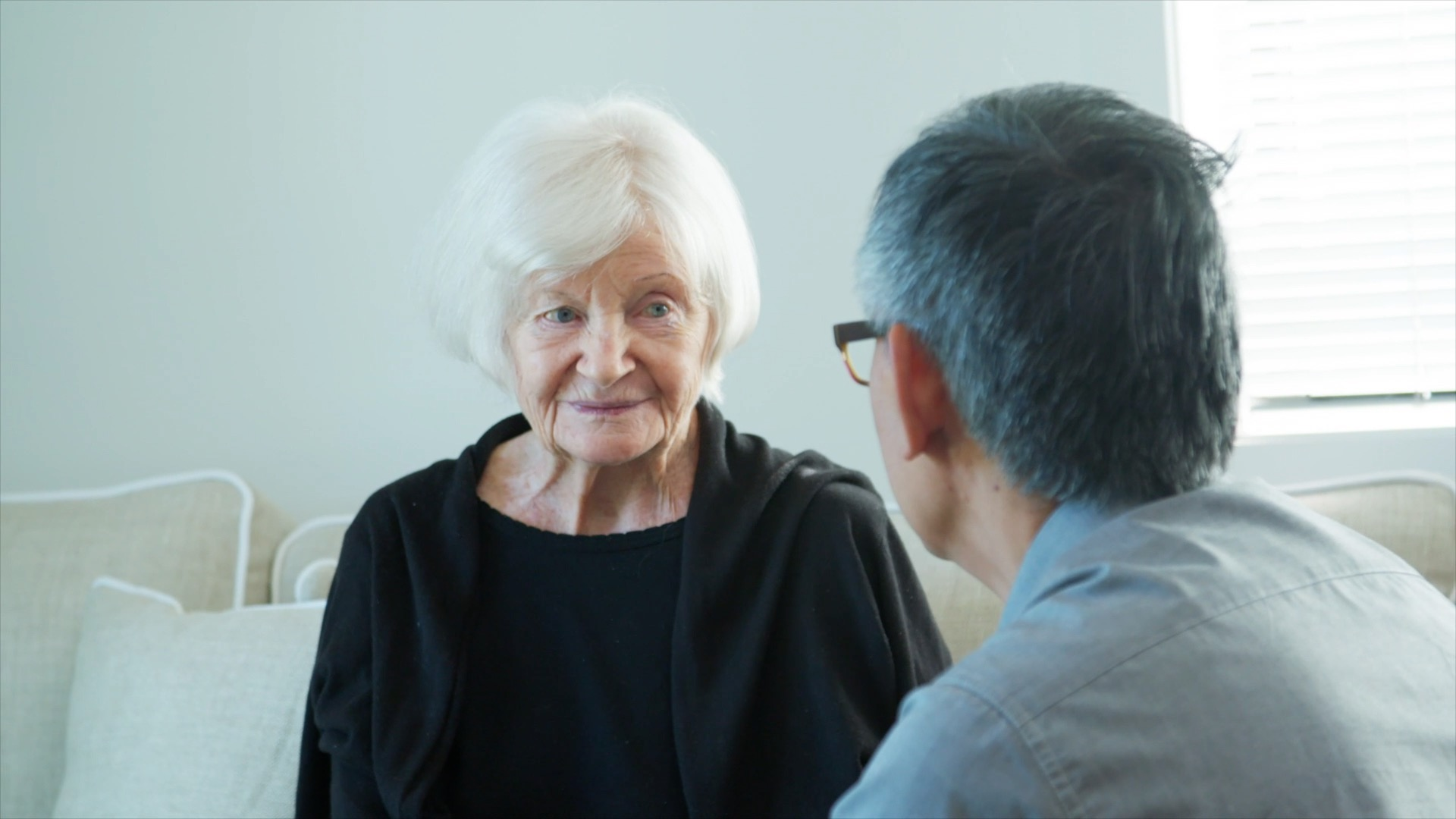 Aged care lady client
