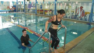 Patient doing a hydrotherapy session
